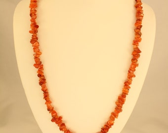 Agate Necklace (Red)