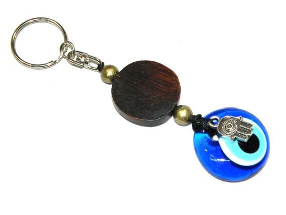 0122 - Lucky Evil Eye Keyring / Bag Hanger - Good Luck & Protection