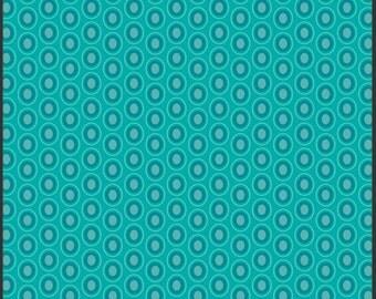 Half Yard - 1/2 Yard of Oval Elements Blue Lagoon - Art Gallery Fabrics