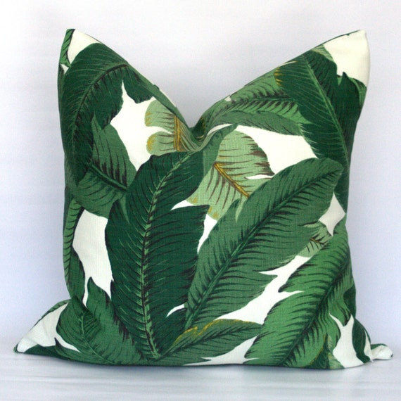 Polyester Indoor Outdoor Fabric Banana Leaves By Stuckonhue