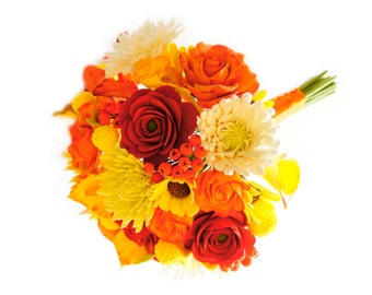 Fall wedding bouquet | Autumn bridal bouquet | Handmade eco-friendly clay flowers | Free shipping