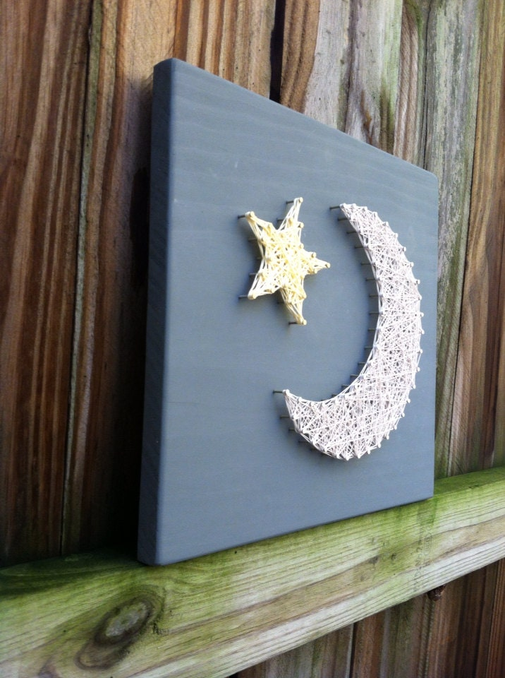 Moon And Star String Art Wall Art Nursery Decor