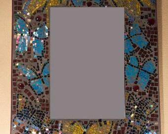 Swollowtail Butterfly Mosaic Mirror
