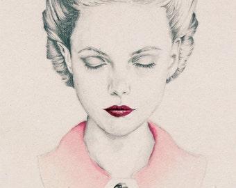 Vintage Girl Print