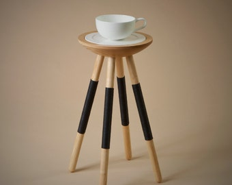 Tea for one table in black