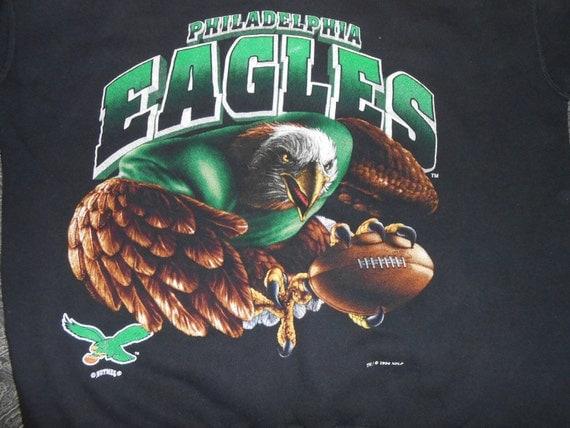 Vtg 90s Philadelphia Eagles Nutmeg Crewneck Sweatshirt Size L