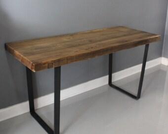 Dining Table,  Reclaimed Wood, Industrial Steel, Thick Wood, Industria Table, Wood Table