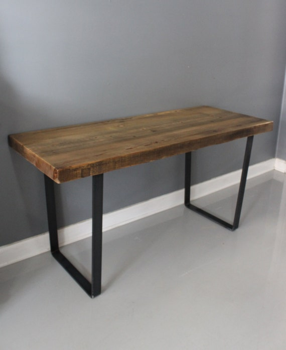 Dining Table Reclaimed Wood Industrial Steel Thick By DendroCo