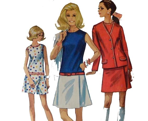 Vintage des années 60 robe modèle des années 1960 Mod Culotte robe  Jupe,short Womens