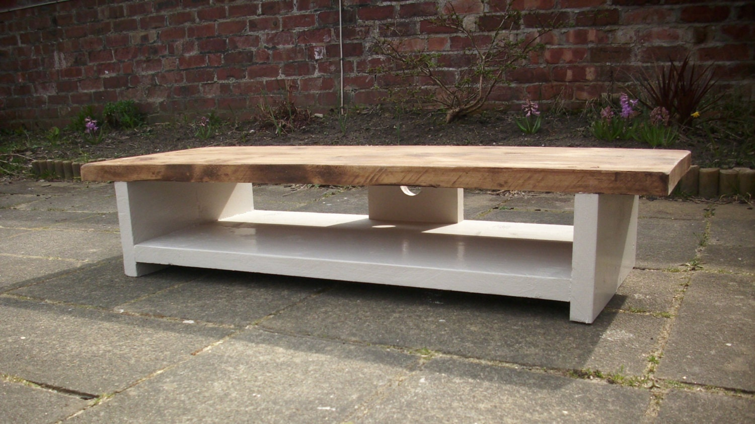 Tv Stand Very Low Height Rustic Pine Plasma By