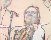 Portrait of Win Butler, from the band Arcade Fire.