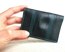 Mens Slim Wallet - Recycled Bike Tube - Upcycled Wallet