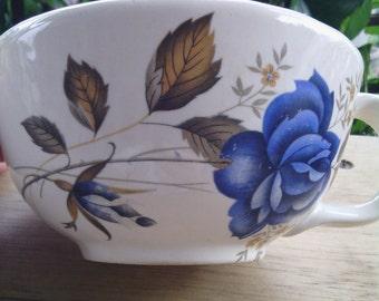 Vintage McCoy Blue Rose 137 Soup Bowl