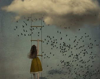 Above All Odds - LIMITED EDITION, Matted Print, Surreal, Whimsical, Fine Art Photography