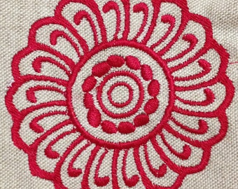 Lovely Modern Abstract Flower Machine Embroidery Design Beautiful Flower Design For Home Decor