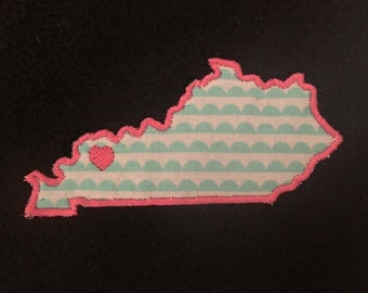 BUY Kentucky - GET Any State (or Country) FREE! Kentucky appliqué and embroidery design in 7 styles and sizes.