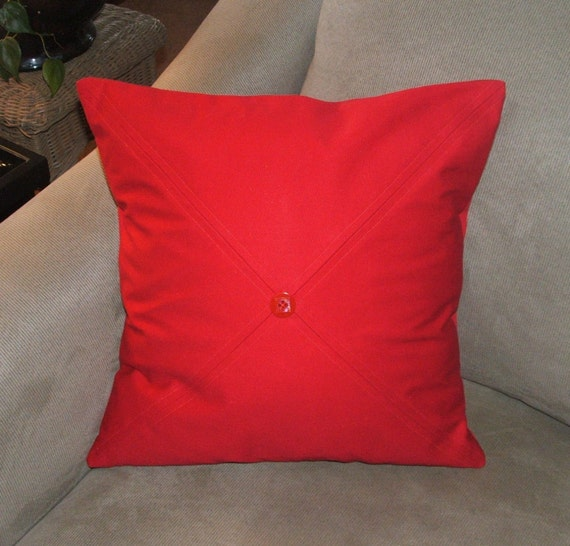 bright red decorative pillow cover throw pillow cover criss cross stitching 18 - Red Decorative Pillows