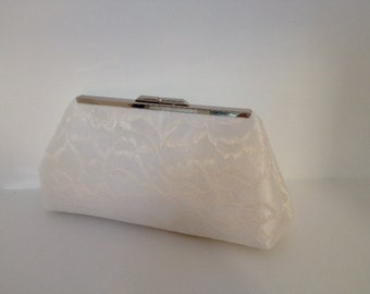 Bridal Clutch Ivory Lace Overlay Clutch Purse, Special Occasion, Bridal, Wedding, Clutch Purse, Lace, Bridesmaid