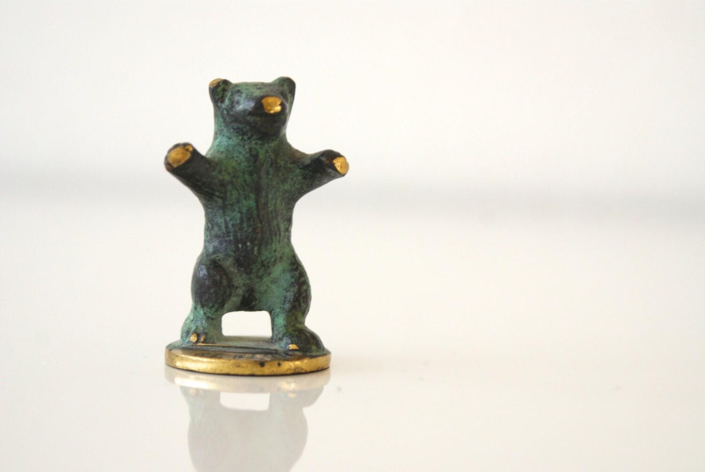 Vintage Miniature Brass Bear Berlin Bear German By
