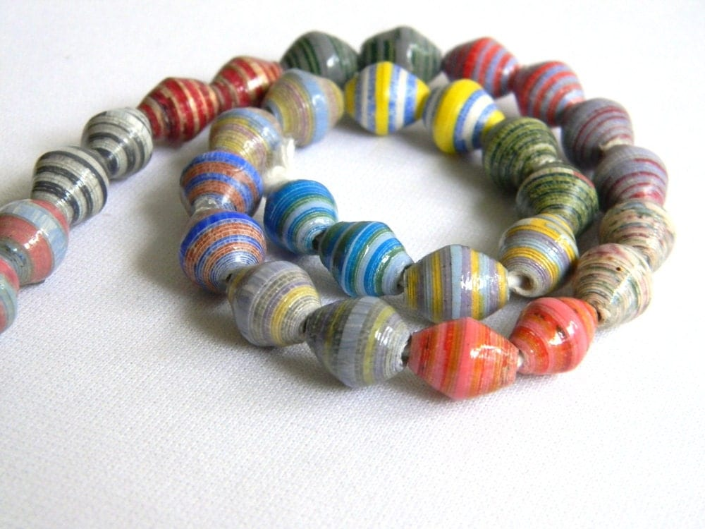 paper bead jewelry supplies paper beads earring strand