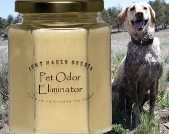 Pet Odor Eliminator Candles  - Blended Soy Candles