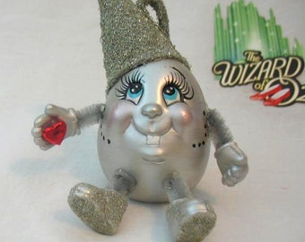 TIN MAN of OZ/The Wizard of Oz/Handmade/Ceramic/Silver/Tin/glitter/L FrankBaum/Film Memorabilia/Heart/Literary Character/Noggins/UniqueGift