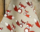 Fox Towel Tea Towel Fox Kit Kitchen Towel Fox Gift Christmas Gift Linen Towel Woodland Fox Baby Fox Hand Towel Gift For Her Mother Day Gift
