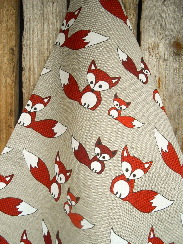Fox Towel Tea Towel Fox Kit Kitchen Towel Fox Gift By