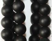 """Shungite Beads - Round 8 mm Gemstone Beads - Full Strand 16"""", 49 beads"""