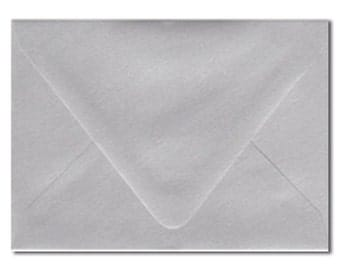 A7 Envelopes Metallic Silver 5.25x7.25 Inch Suitable For 5x7 Inch Invitation Pack of 10
