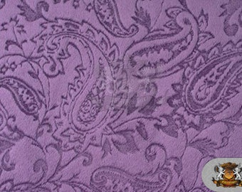 """Minky Cuddle Embossed Paisley 18 Violet/ 58"""" Wide / Sold by the yard"""