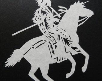 The Buffalo Hunt Scherenschnitte