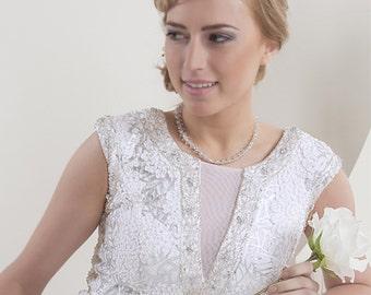 Crystal & Diamante Detail Wedding Necklace