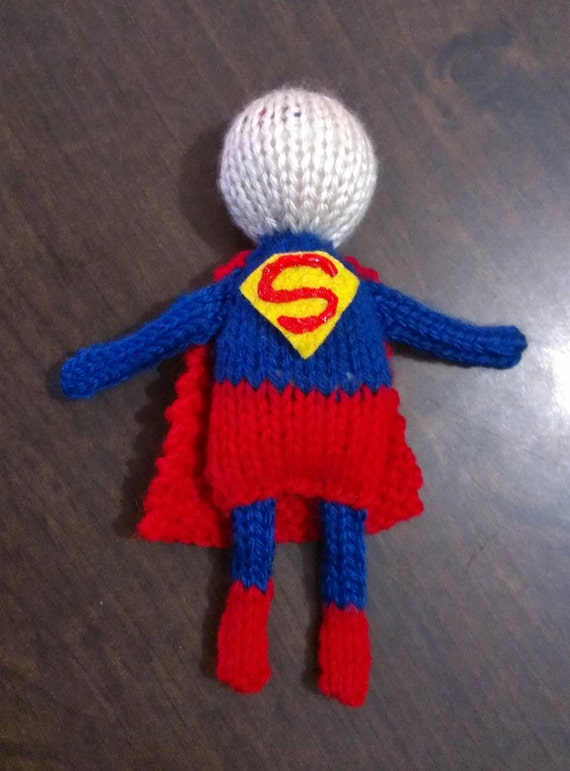 SUPERMAN hand-knit doll superman doll toddler doll baby