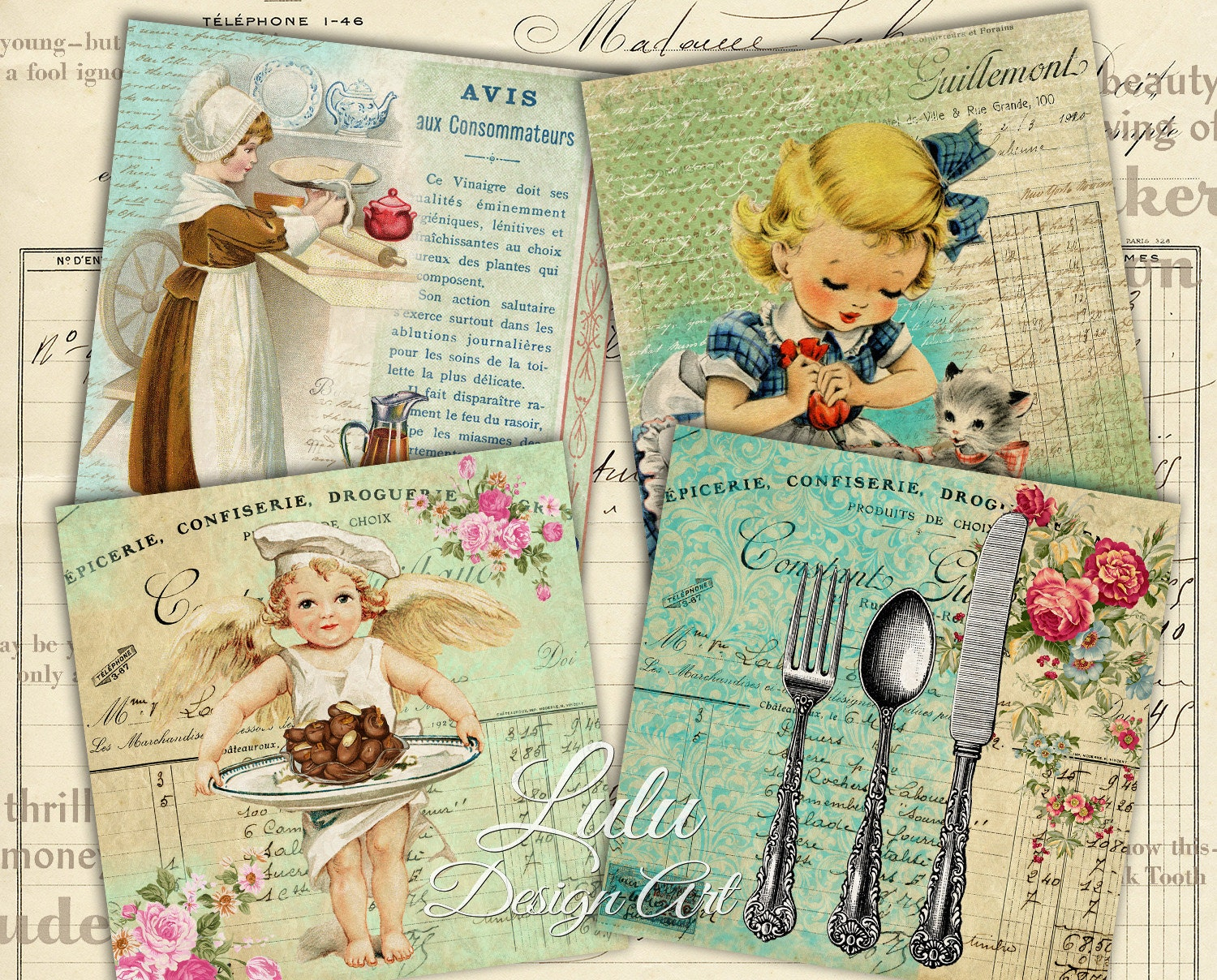 Scrapbook paper cooking - This Is A Digital File