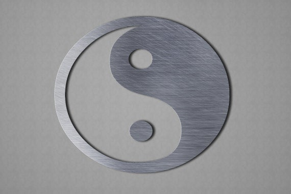 Yin yang metal wall art wall art metal wall by inspiremetals for Decoration murale yin yang