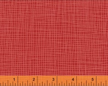 One Yard Bye Bye Birdy - Grid in Red - Cotton Quilt Fabric - by American Vintage for Windham Fabrics