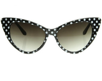 Black Polkadot Sunglasses