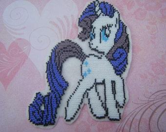 Beaded My Little Pony Patch - Rarity