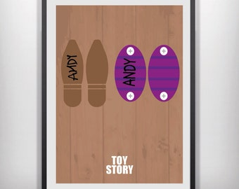 Toy Story minimalist movie poster woody buzz lightyear