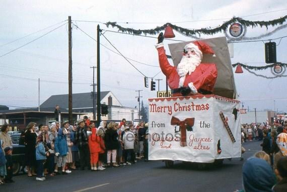 Vintage Kodachrome Slide..Christmas Parade..Springfield