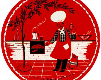 Barbecue BBQ Cookout Chef Wall Decal #45868