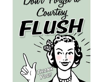 Don T Forget Courtesy Flush Wall Decal