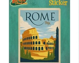 Rome Italy Flavian Colosseum Vinyl Sticker - #47927