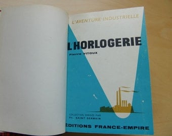 """1960 vintage french book """" L'horlogerie"""" Horology,watchmaking """",Pierre Vitoux,red book"""