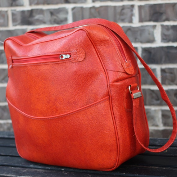 bright orange tote shoulder bag carry on by getcolorcrazy