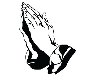 Praying Hands Decal , Praying Hands Sticker , Jesus Prayer Decal , Christian Religious Sticker