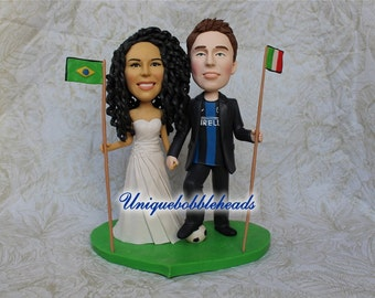 Flag wedding cake topper,flags cake topper,custom cake topper fro your photos,bride And groom cake topper,bridalshower cake topper