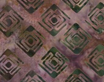 Galaxy Fabrics, Java Batiks (0364), Quilt Fabric, Purple, Charcoal, Squares, Geometric