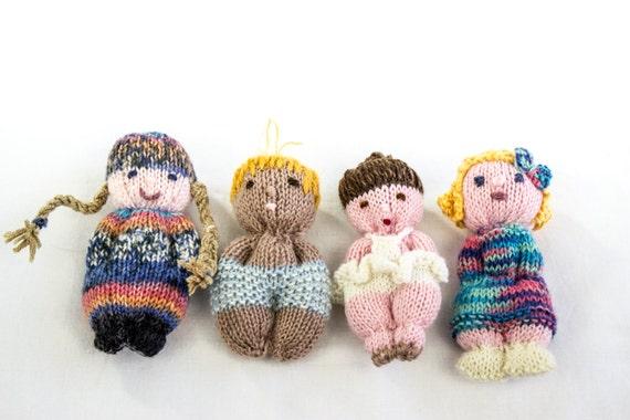 Amigurumi Knit Patterns Easy : KNITTING PATTERN, Doll ,Toy, Pocket Doll, PDF, Amigurumi ...